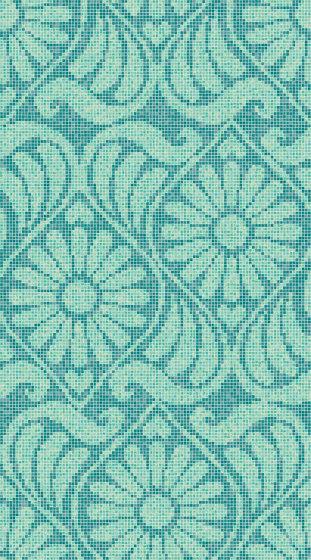 Royal Waves   Art Nouveau Decor 15x15 de Mosaico+   Mosaïques verre
