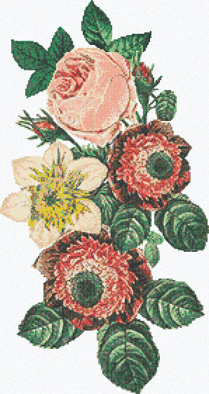 Royal Waves | Bouquet Decor 15x15 di Mosaico+ | Mosaici vetro