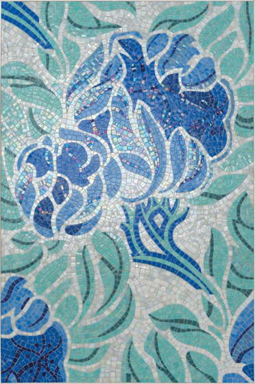 Royal Waves | Fine Flower Decor 15X15 de Mosaico+ | Mosaïques verre