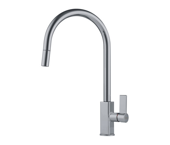 Maris Tap Pull Down J Version Nickel Optics de Franke Kitchen Systems | Griferías de cocina