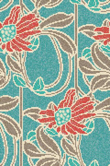 Royal Waves | Seventies Decor 15x15 de Mosaico+ | Mosaicos de vidrio