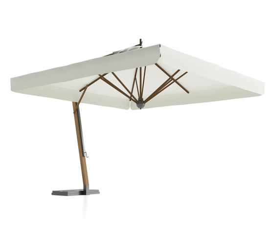 River Lux Umbrella with lateral structure by Atmosphera | Parasols