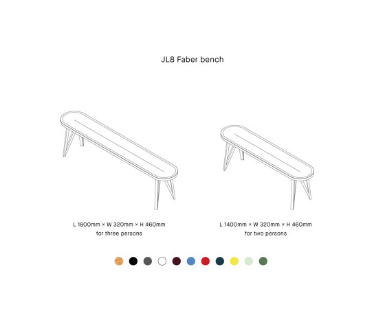 JL8 FABER di LOEHR | Panche