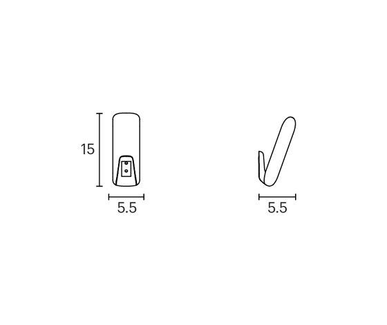 Caddy coat hook by ENEA | Single hooks