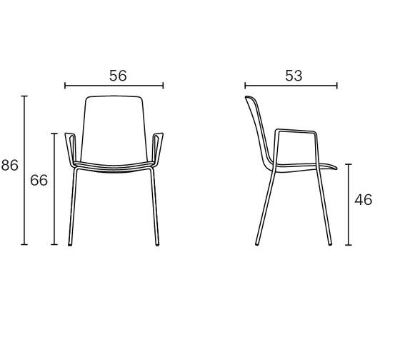 Lottus High armchair di ENEA | Sedie