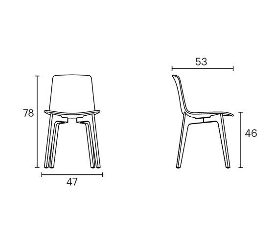 Lottus Wood chair di ENEA   Sedie