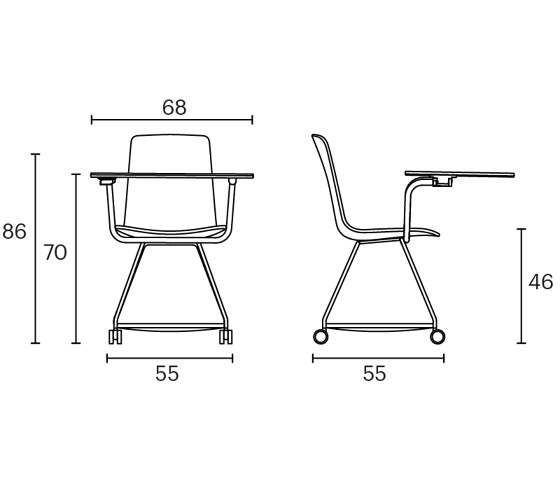 Tray chair by ENEA | Chairs