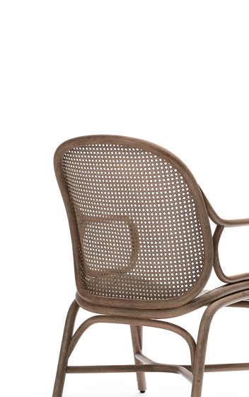 Frames Low backrest armchair with rattan legs by Expormim | Armchairs