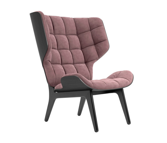 Mammoth Chair, Black / Velvet: Rosewood 1672 von NORR11 | Sessel