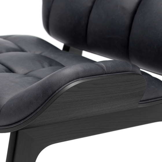 Mammoth Chair, Black / Vintage Leather Anthracite 21003 de NORR11 | Sillones