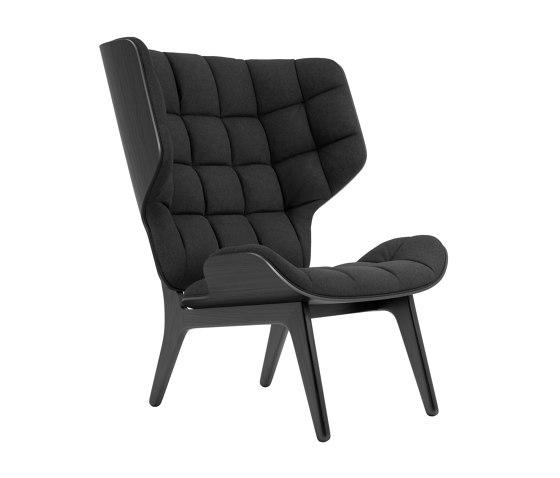 Mammoth Chair, Black / Wool: Coal Grey 067 di NORR11   Poltrone