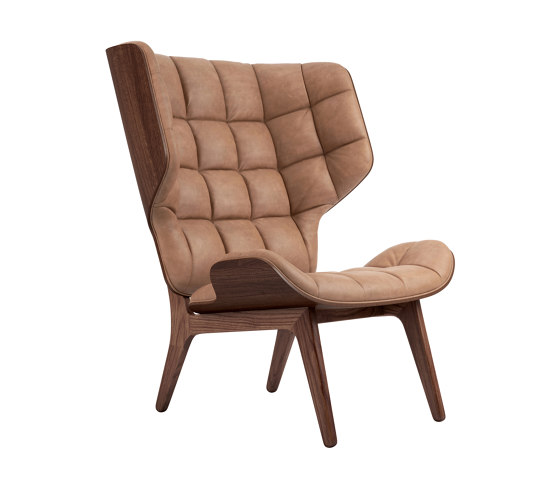 Mammoth Chair, Dark Stained / Vintage Leather Camel 21004 by NORR11 | Armchairs