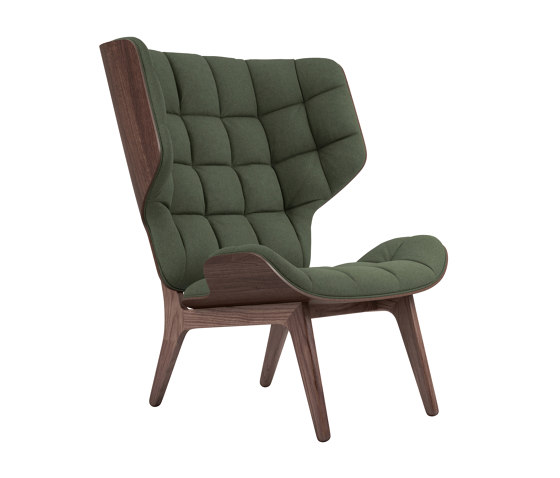Mammoth Chair, Dark Stained / Wool: Forrest Green 053 by NORR11 | Armchairs
