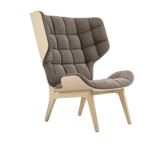 Mammoth Chair, Natural / Velvet: Taupe 710 de NORR11 | Sillones