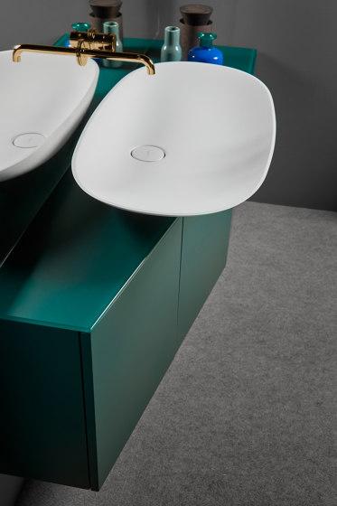 Forma Topsolid Top mounted washbasin L90 by Inbani | Wash basins