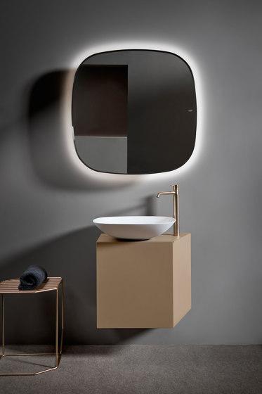 Forma Topsolid Top mounted washbasin L50 by Inbani | Wash basins