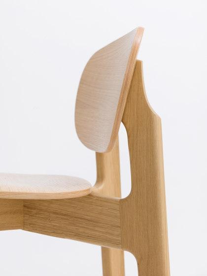 Zenso Bar Wooden seat and wooden back de Zeitraum | Taburetes de bar