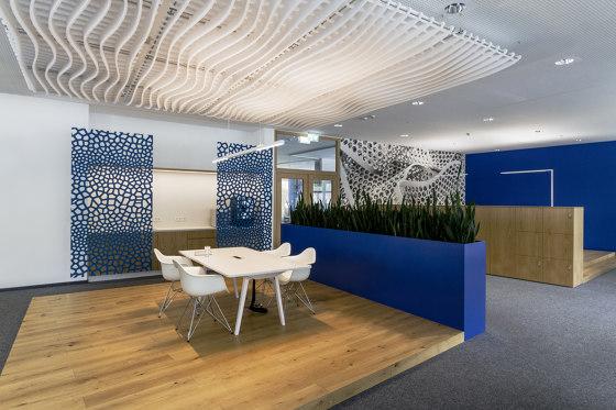 recycled greenPET   designed acoustic divider air voronoi by SPÄH designed acoustic   Sound absorbing room divider