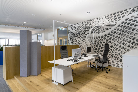 Basotect | designed acoustic tower by SPÄH designed acoustic | Space dividing systems