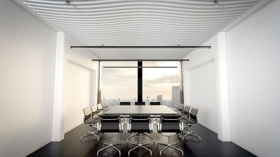 da baffle connected curve by SPÄH designed acoustic   Acoustic ceiling systems