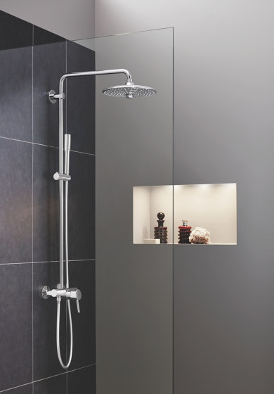 Euphoria SmartControl System 310 Cube Duo with thermostat for wall mounting by GROHE | Shower controls