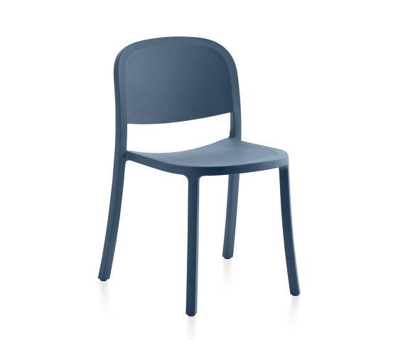 1 Inch Reclaimed Stacking Chair Blue de emeco | Sillas