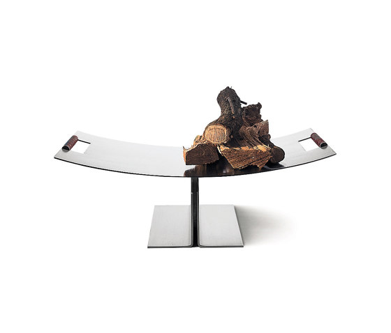Peter Maly Log Holder by conmoto | Fireplace accessories