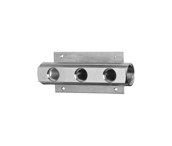 Sense 22 mm 3-way distributor for rain shower by CONTI+ | Bathroom taps accessories