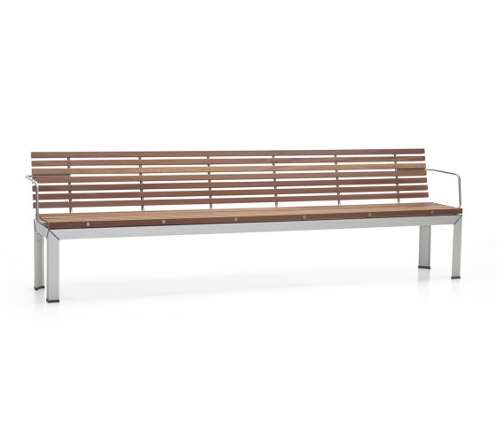 Extempore bench with back by extremis | Benches