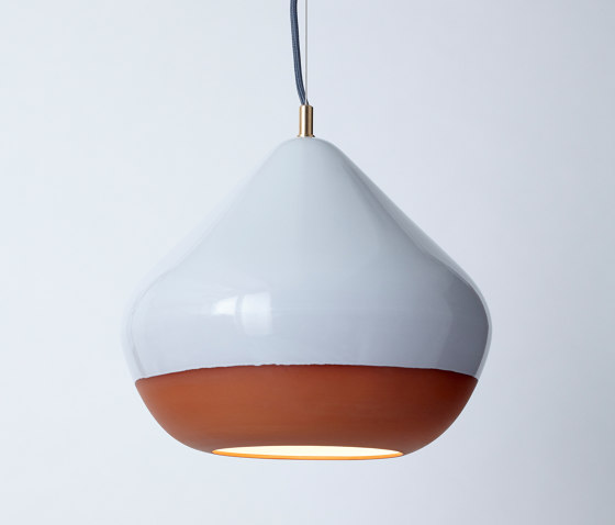 Terracotta Large (Top Glazed) by Hand & Eye Studio   Suspended lights