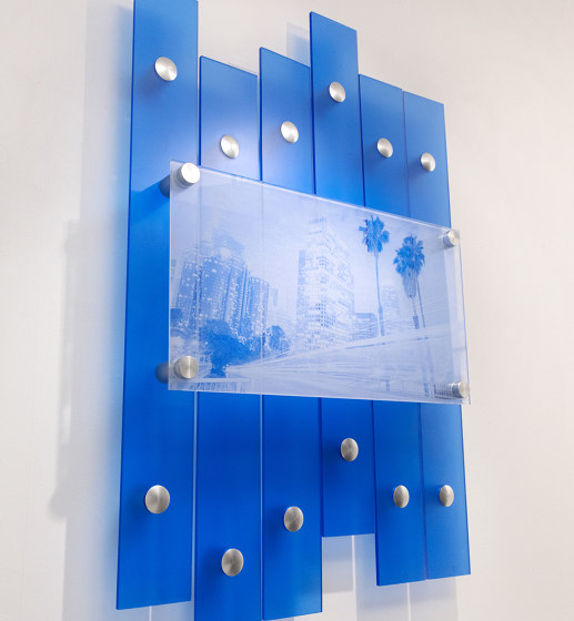 Layered Wall Display by Gyford StandOff Systems® | Glass holders