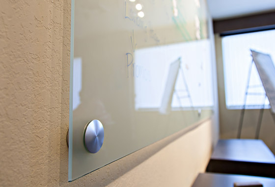 Glass Dry Erase Board Hardware by Gyford StandOff Systems® | Glass holders