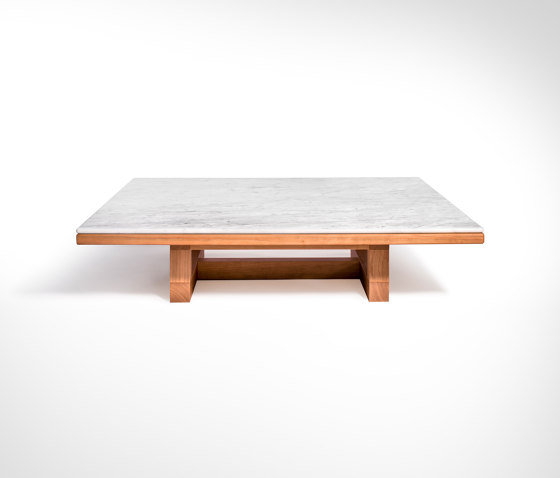 Span - Coffee table 113 x 113 x h26 cm Bianco Carrara by Salvatori | Coffee tables