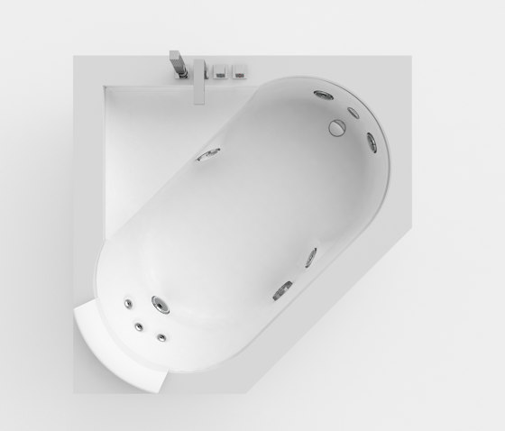 Aura Corner 140 Corian® by Jacuzzi® | Whirlpools