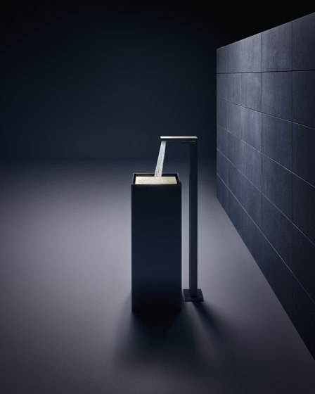 AXOR Single lever basin mixer floor-standing with push-open waste set by AXOR | Wash basin taps