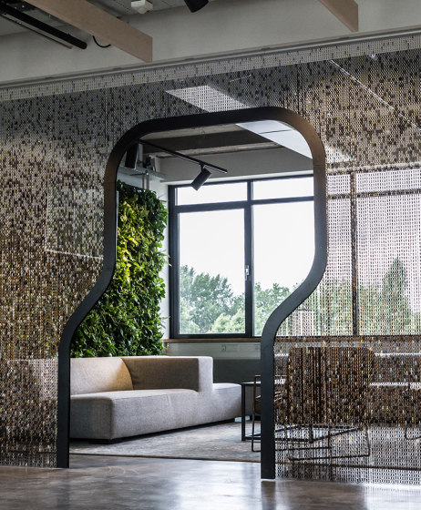 Space Divider Shaped Frame by Kriskadecor | Privacy screen