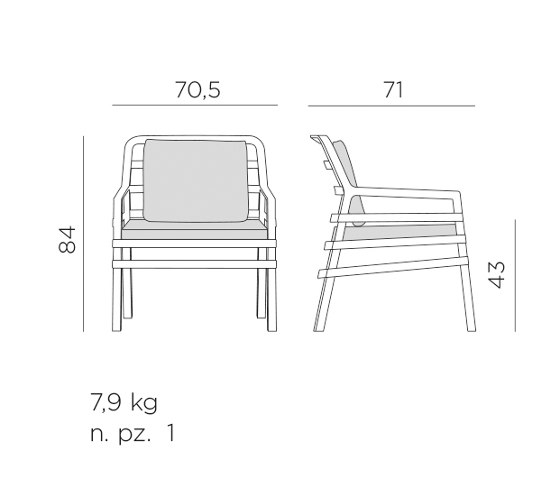 Aria poltrona by NARDI S.p.A. | Chairs