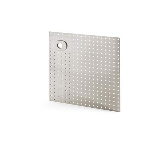 Stardust Perforated square Plate by Vervloet   Handle backplates