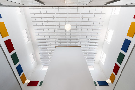 Basotect   designed acoustic baffle basotect by SPÄH designed acoustic   Sound absorbing ceiling systems