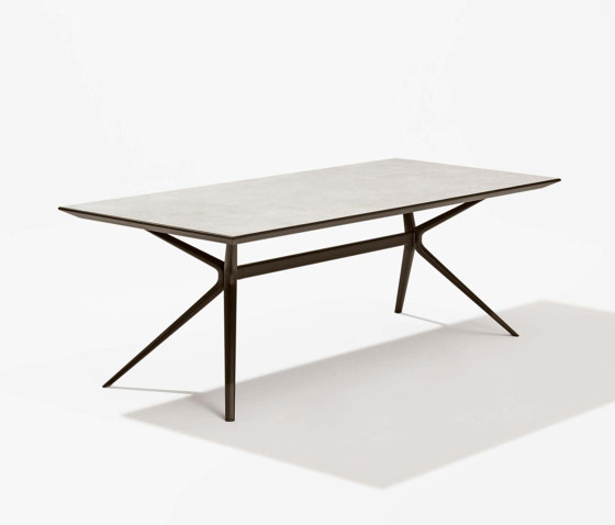 Moai rectangular table with stoneware top by Fast   Dining tables