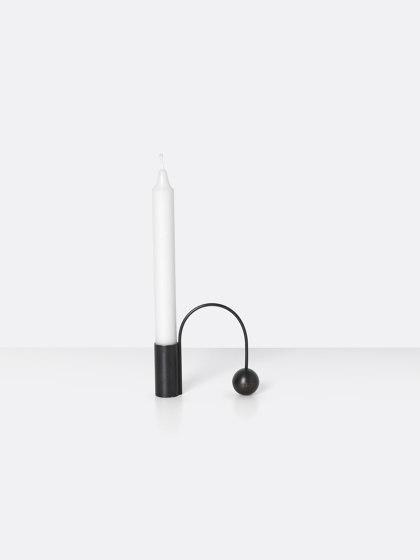 Balance Candle Holder - Black de ferm LIVING | Bougeoirs