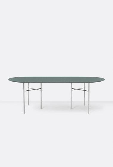 Mingle Oval Table Top - 220cm – Green di ferm LIVING | Tavoli pranzo
