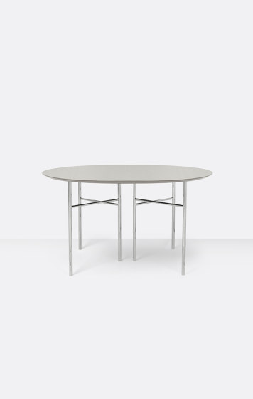 Mingle Round Table Top - Ø: 130cm – Light Grey by ferm LIVING   Dining tables