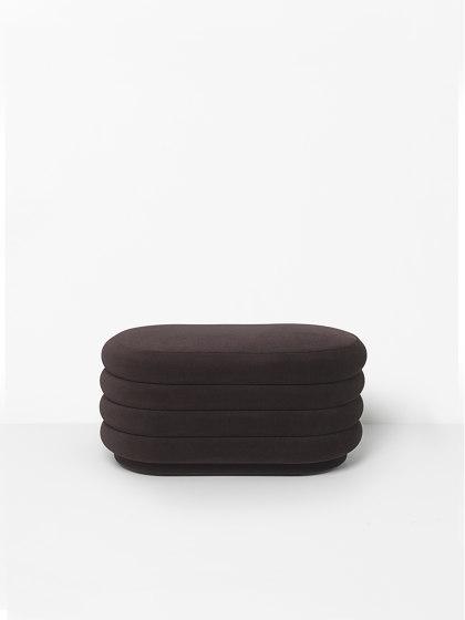 Pouf - Medium - Chocolate de ferm LIVING | Poufs