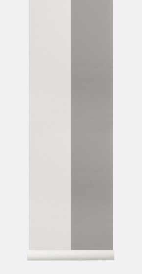 Wallpaper Thick Lines - grey/off white by ferm LIVING | Wall coverings / wallpapers