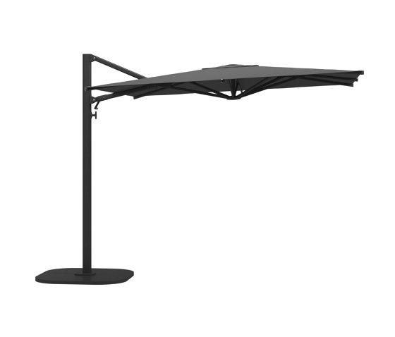 Halo Small Square Cantilever Parasol Meteor de Gloster Furniture GmbH   Parasoles
