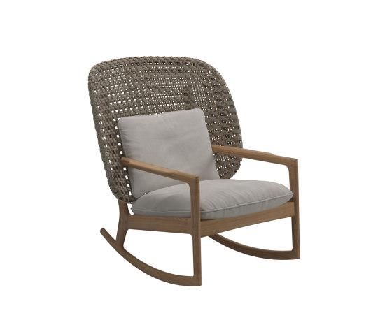 Kay High Back Rocking Chair Harvest von Gloster Furniture GmbH | Sessel