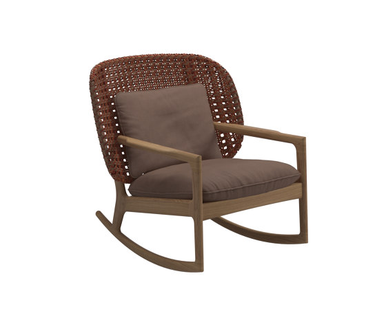 Kay Low Back Rocking Chair Copper von Gloster Furniture GmbH | Sessel