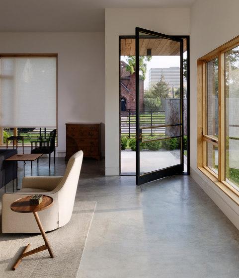 System M | Steel Entrance Pivot Door by FritsJurgens | Hinges