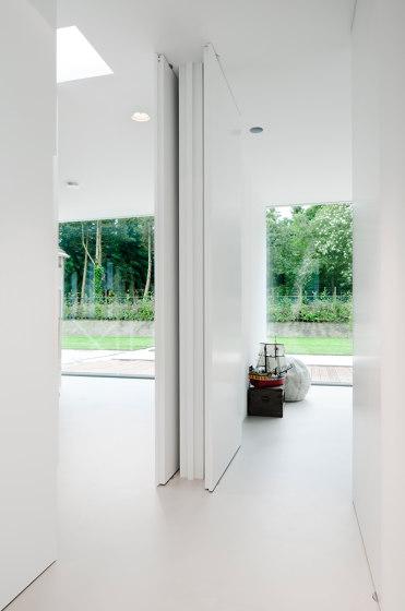 System M | White Pivot Door by FritsJurgens | Hinges